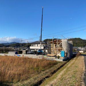 山県市の家、上棟。